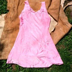 Vtg Pink Slip Gown / Nightie